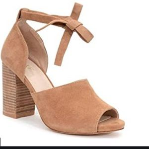 Raye Ankle Strap Suede Sandal Size 6.5